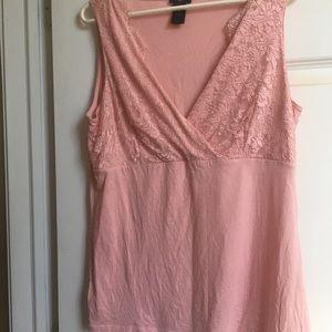 Ann Taylor Pink Lace shirt